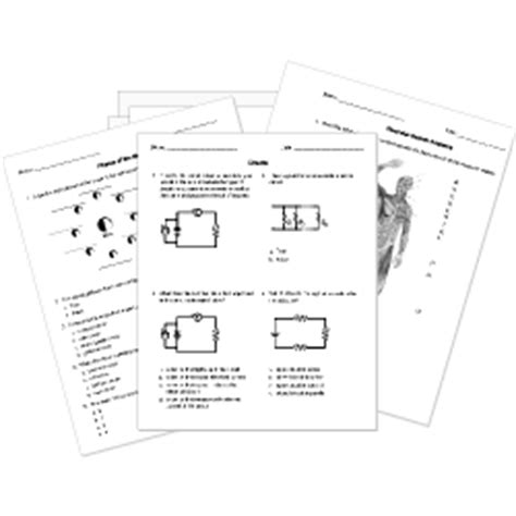 printable online science worksheets and activities k 12 biology chemistry physics astronomy