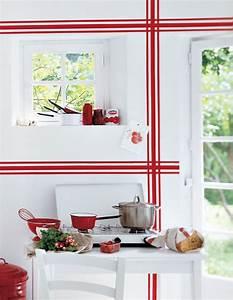 Torchon De Cuisine : des motifs de torchon repris sur les murs marie claire ~ Teatrodelosmanantiales.com Idées de Décoration