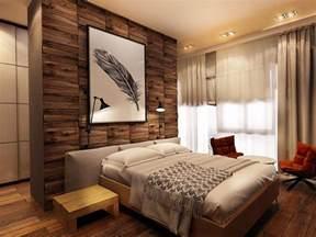 raumgestaltung schlafzimmer cool wood accent wall interior design ideas