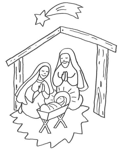 kostenlose malvorlage weihnachten jesus geburt im stall