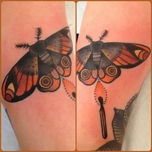 old school moth tattoo - Google Search | Tattoos | Pinterest