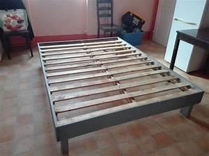 Comment Faire Un Lit En Palette : fabrication dun lit en bois idees images ~ Nature-et-papiers.com Idées de Décoration