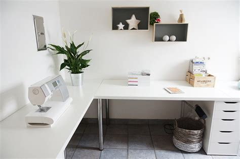 Ikea Desk Corner Top by Minimalist Corner Desk Setup Ikea Linnmon Desk Top With