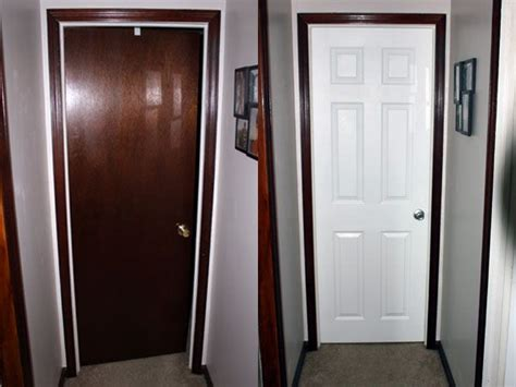 Painted Door With Stained Trim