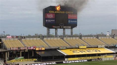 scoreboard fire  columbus crew stadium sbnationcom