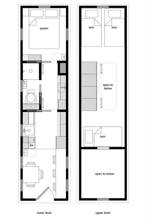 tiny house floor plans   level beds tinyhousedesign