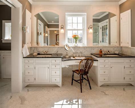 Bathroom Vanity With Built In Makeup Area by Bathroom Built In Bathroom Makeup Vanity Vanity Furniture