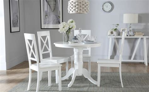 White Dining Room Chairs by Kingston White Dining Table With 4 Kendal Chairs