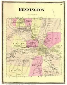 Bennington County Vermont Map