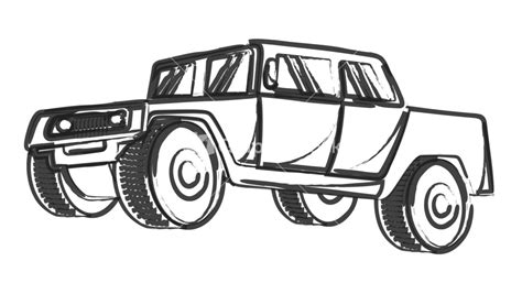 jeep front drawing retro drawing of ancient jeep vehicle stock image