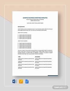 Free 11  Sample Meeting Minutes In Pdf