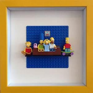 lego simpsons framed wall art minifigures artworks With lego wall art