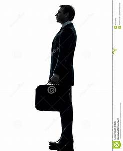 Business Man Standing Proflie Silhouette Royalty Free ...