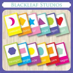 shapes basics flash cards printable toddler pre k nursery