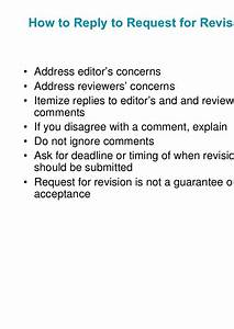 revise and resubmit cover letterthe peer review process With revise and resubmit cover letter