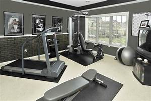 faux brick panels home gym contemporary with brick With kitchen cabinets lowes with fitness room wall art