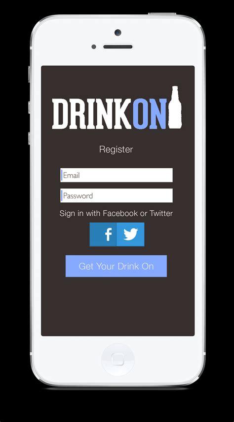 iphone login drinkon iphone app kristen marzelli design