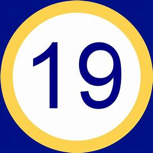 Number 19 - Free Picture of the Number Nineteen