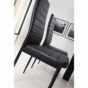 Lot De 6 Chaises Pas Cher : lot de 6 chaises de salle manger noir achat vente chaise salle a manger pas cher couleur ~ Teatrodelosmanantiales.com Idées de Décoration