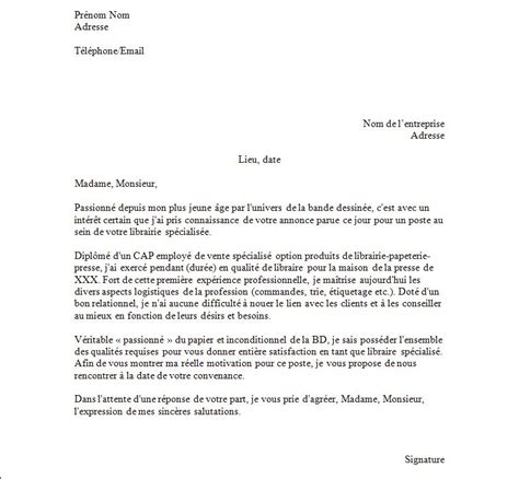 interim cuisine lettre de motivation libraire exemples de cv