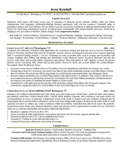 Senior Credit Analyst Resume by Credit Analyst Resume