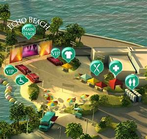 Echo Beach Venue Map For Live Nation By