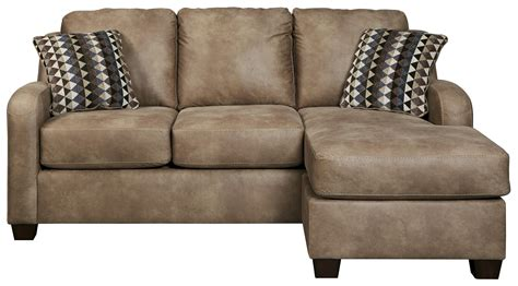 Leather Loveseat With Chaise by Benchcraft Alturo 6000318 Contemporary Faux Leather Sofa