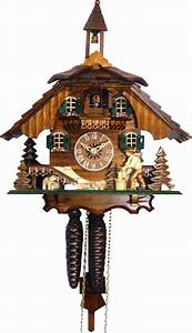 Cuckoo, Clock, 8-day-movement, Chalet-style, 31cm, By, Engstler