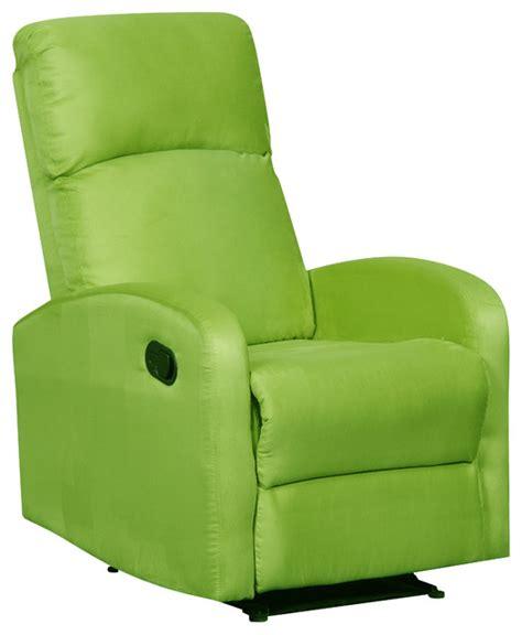 Slimline Recliners by Modern Home Slim Design Microfiber Recliner Lime Green