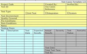 test case template for unit test integration test and With system test case template