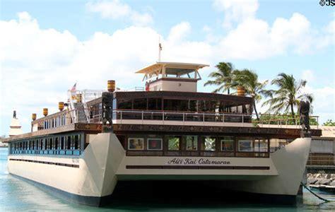 Catamaran Dinner Cruise Honolulu by Ali I Kai Catamaran For Dinner Cruises Docked On Honolulu