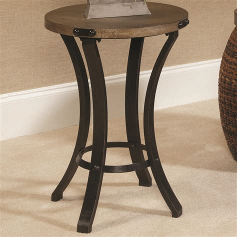 round metal end table hammary hidden treasures 090 370 metal base round accent