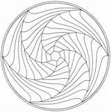 Mandala Spiral Coloring Mandalas Adult Printable Patterns Colouring Simple Line Pattern Drawing Geometric Zentangles Illusions Popular Sheets Fi Google Illusion sketch template