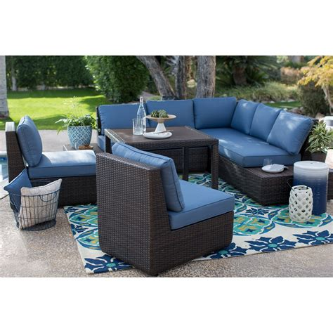 Patio Sofa Sale by Belham Living Luciana Bay All Weather Wicker Sofa