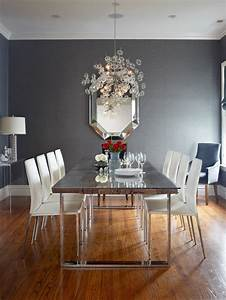 Grey, And, White, Dining, Room