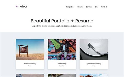 Best Resume Portfolio Websites by 26 Best Themes For Graphic Designers Seo Land