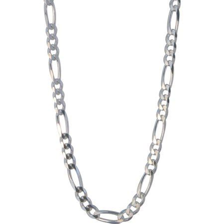 "Men's Sterling Silver 180 Figaro Necklace, 22""   Walmart.com"