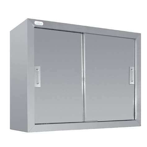 stainless steel kitchen storage cabinets vogue stainless steel wall cupboard sliding doors kitchen