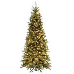 national tree company 7 5 ft fir slim artificial tree with clear lights tfslh