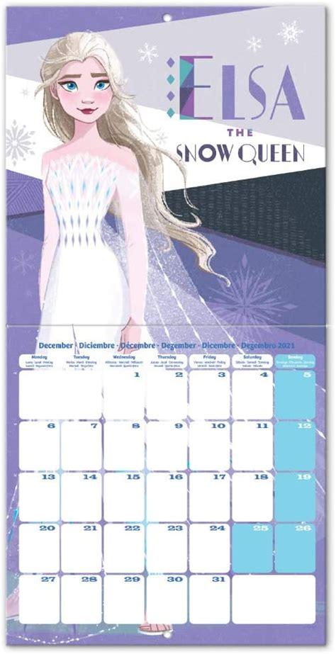frozen  wall calendar    official art  bonus poster youloveitcom