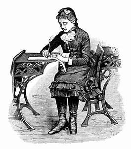Victorian School Girl Clip Art | Old Design Shop Blog