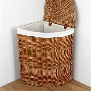 natural, wicker, corner, laundry, basket