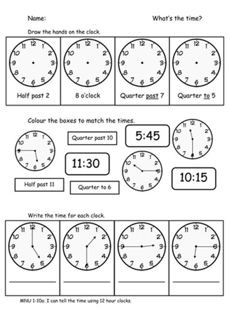 time o clock half past quarter to and past by sophiawg teaching resources