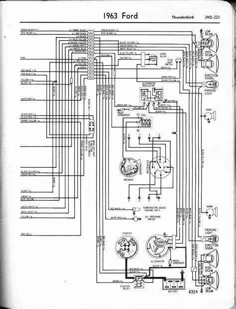 wiring diagram 1956 thunderbird circuit 1963 ford v8 1955