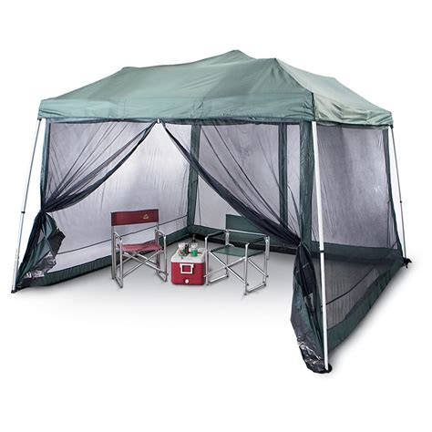 easy set  canopy forest green  canopy screen pop  tents  sportsmans guide
