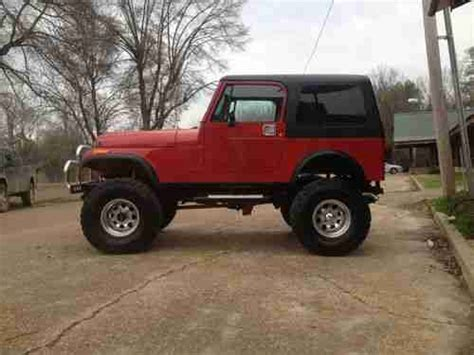 big red jeep buy used 1982 jeep cj7 v8 350 350 big red awesome