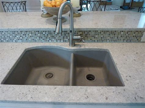 quartz countertop with undermount sink blanco silgranit ii truffle undermount sink cambria