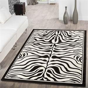 Teppich Modern Wohnzimmer : teppich modern wohnzimmer kurzflor tiermuster zebra design ~ Lizthompson.info Haus und Dekorationen