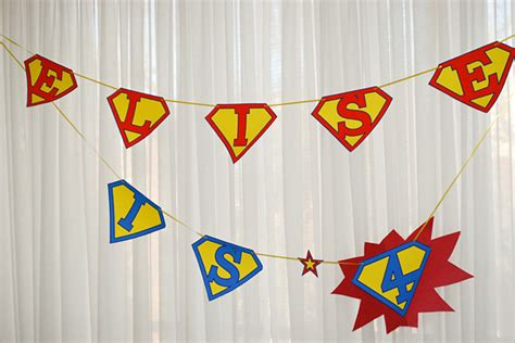 printable superman birthday banner   super hero