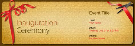 inauguration ceremony invitation  indias